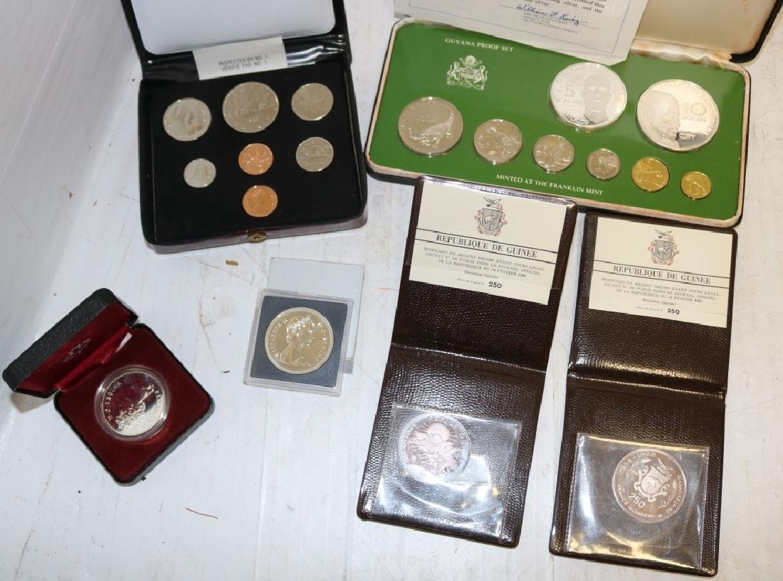 6 FOREIGN PROOF COINS INCLUDING 1980, 81 CANADIAN - 2