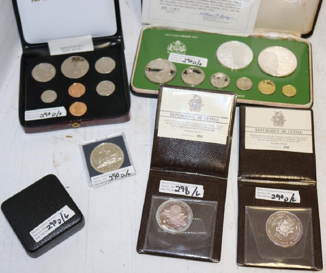 6 FOREIGN PROOF COINS INCLUDING 1980, 81 CANADIAN - 3