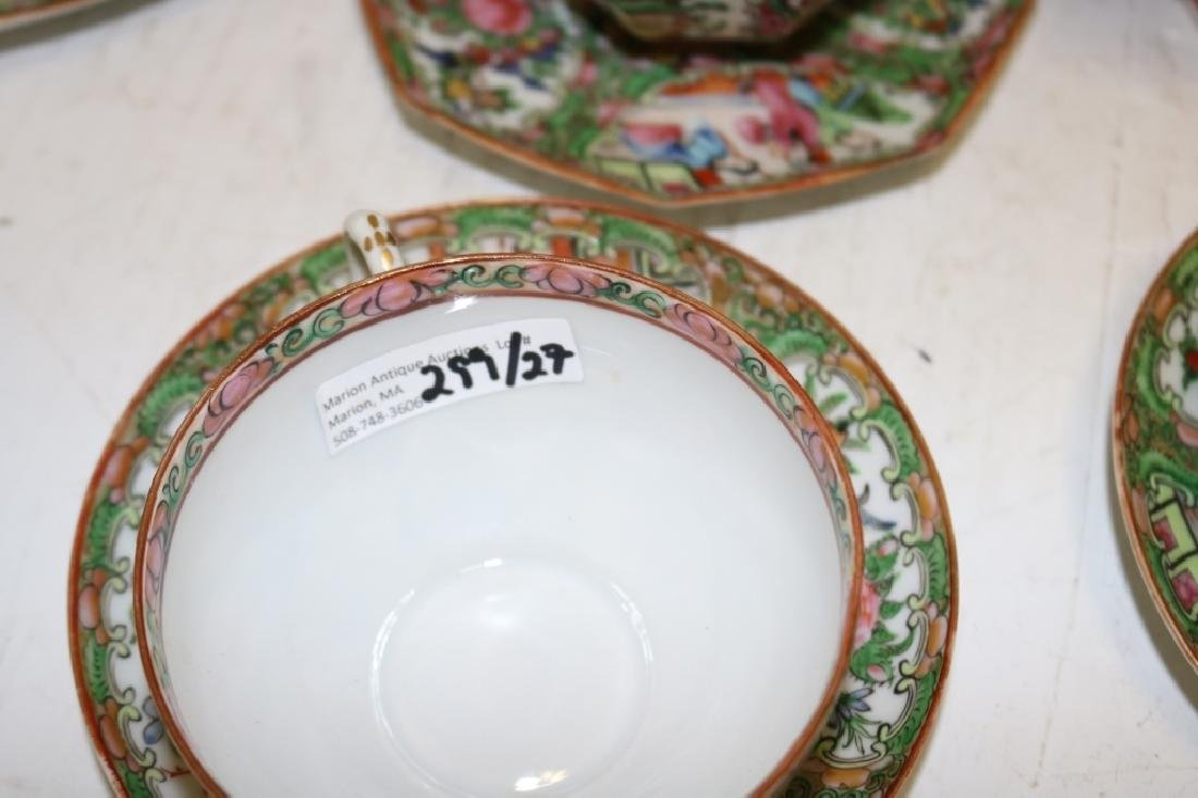 27 PIECES OF 20TH C ROSE MEDALLION TO INCLUDE - 3