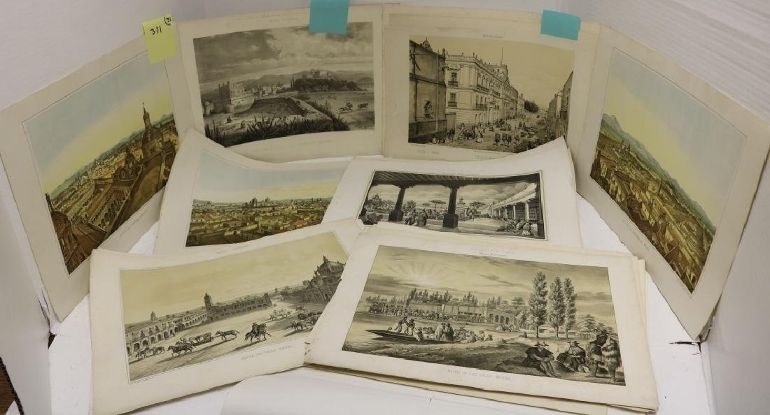 31 PIECE LOT OF 19TH C LITHOGRAPHS RELATED TO