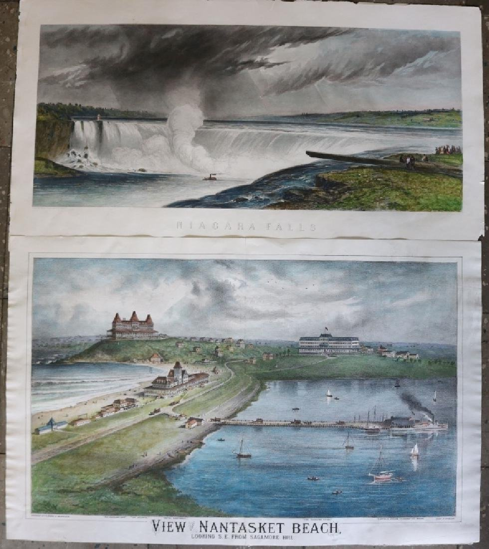 TWO 19TH C PRINTS TO INCLUDE A HAND COLORED