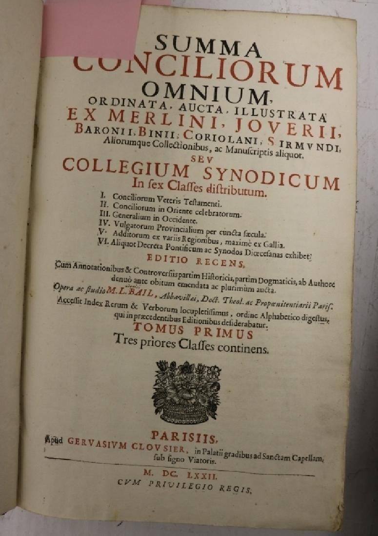 """2 LEATHER BOUND BOOKS TITLED """"SUMMA CONCILIORUM - 5"""