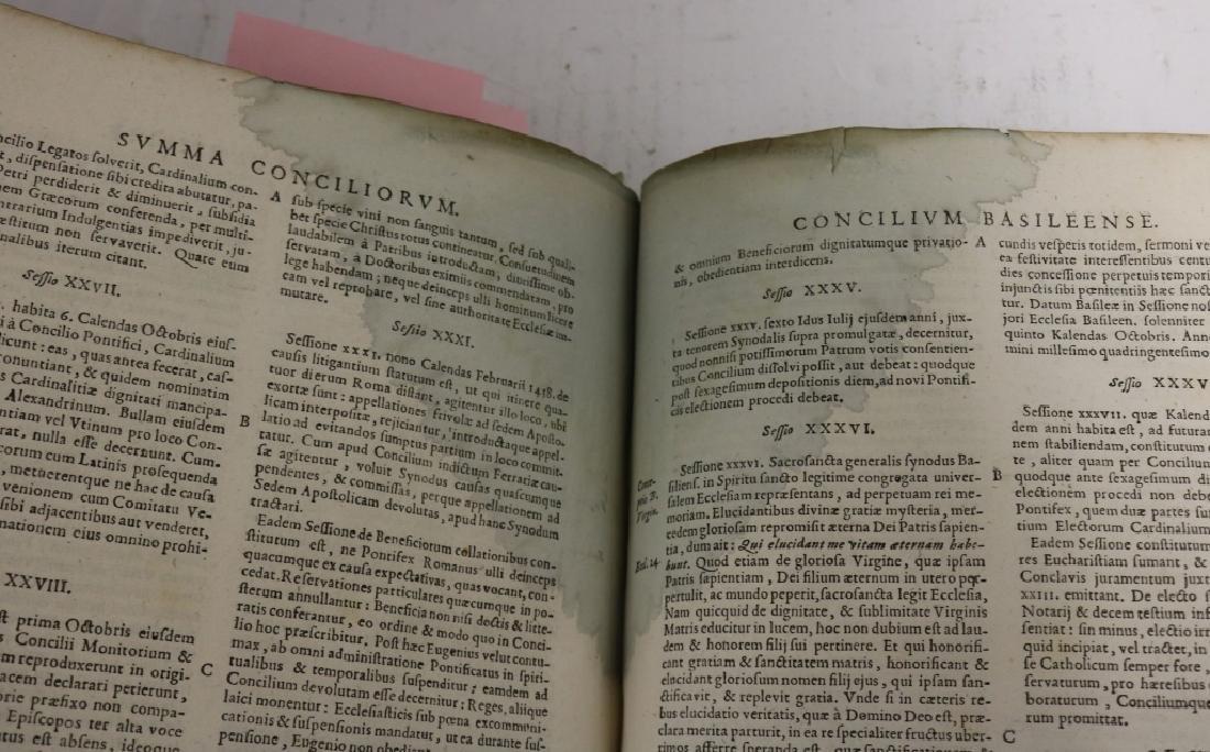 """2 LEATHER BOUND BOOKS TITLED """"SUMMA CONCILIORUM - 7"""