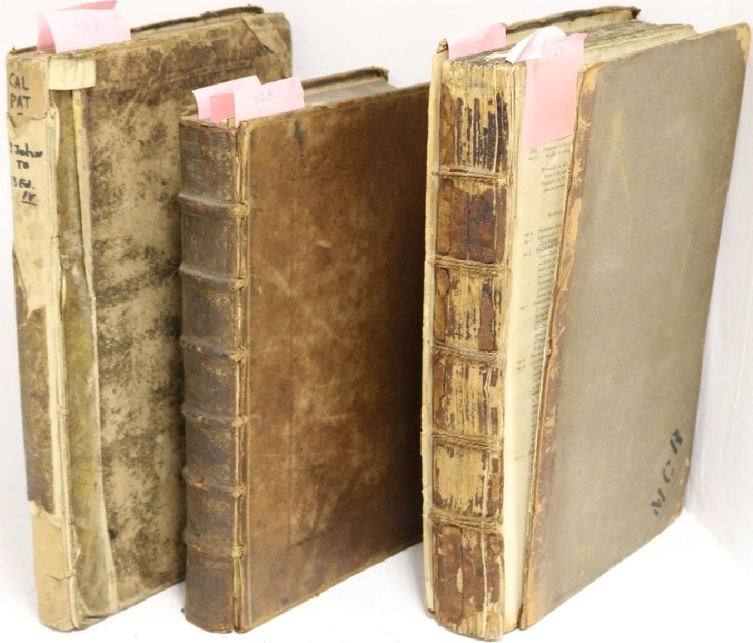 3 LARGE LEATHER BOUND BOOKS RELATED TO GREAT