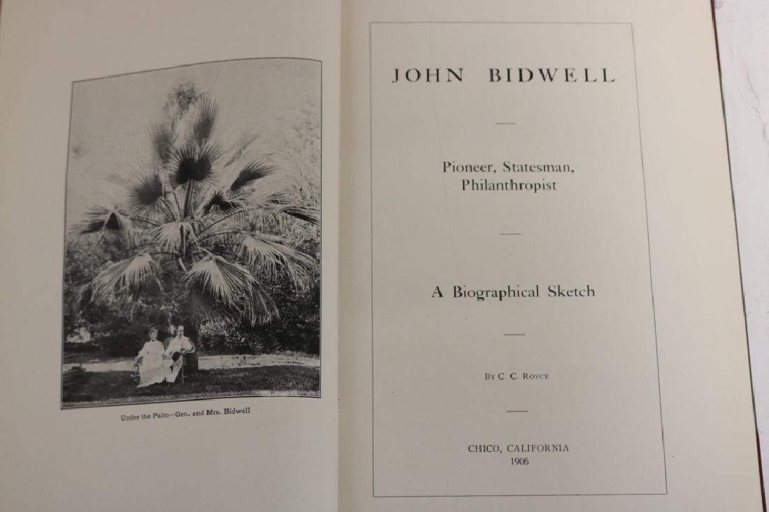 JOHN BIDWELL, PIONEER, STATESMAN, PHILANTHROPIST: - 2