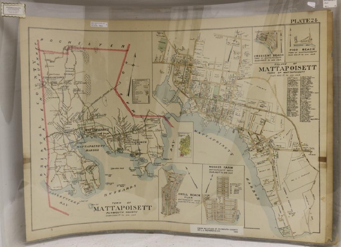 3 UNFRAMED MAPS TO INCLUDE TWO 1903 MAPS OF - 3
