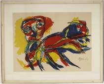 KAREL APPEL (1921-2006) FRAMED COLORED LITHOGRAPH
