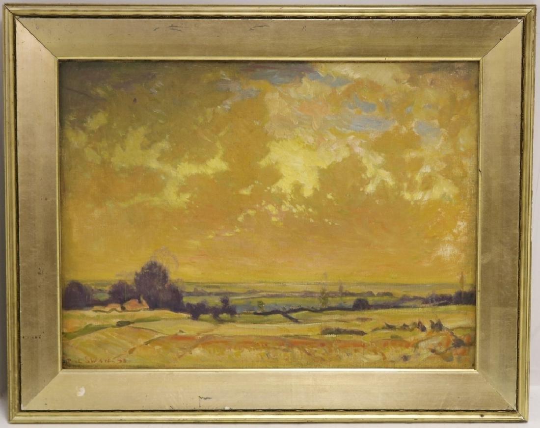PAUL SWAN (1884-1972, NY, NEB, ILL), OIL PAINTING