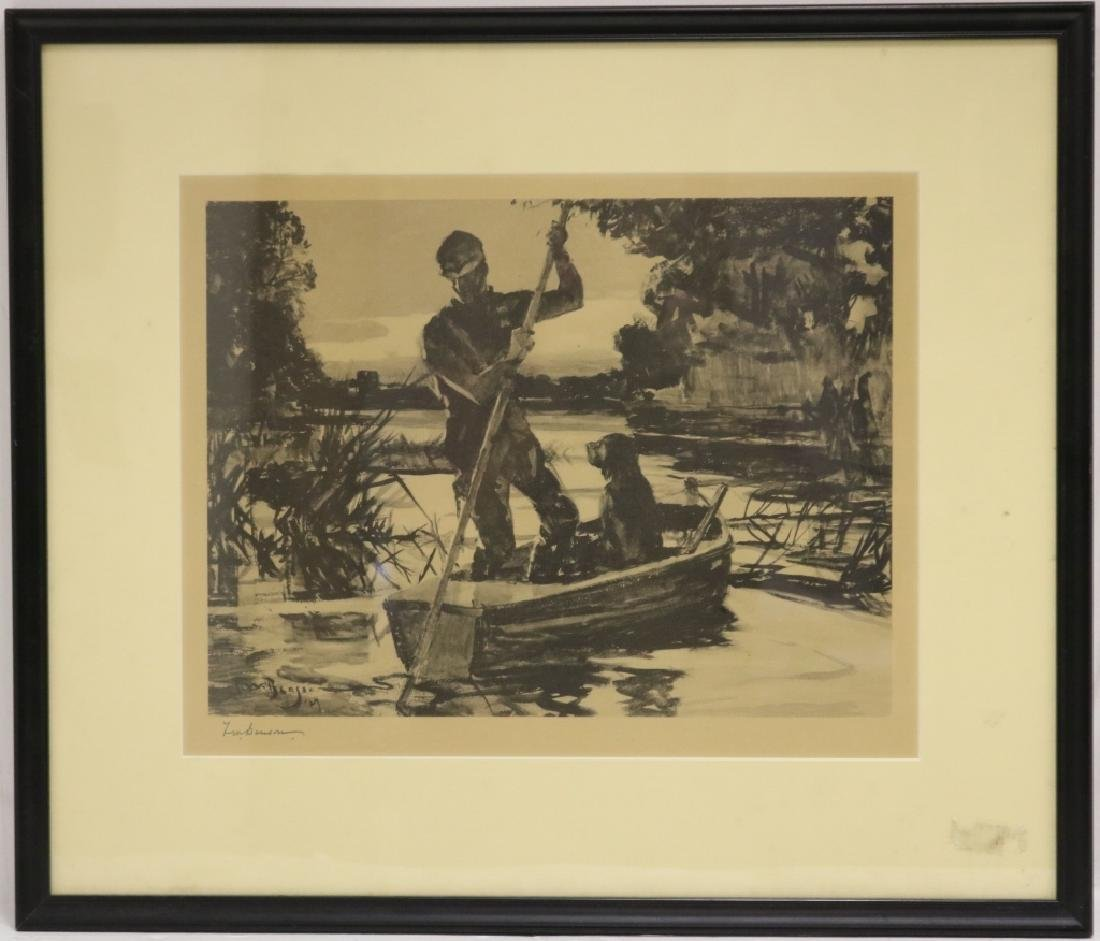 AFTER FRANK WESTON BENSON, LITHOGRAPH,