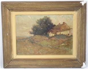 E A EDWARD PAGE 18501928 OIL PAINTING ON
