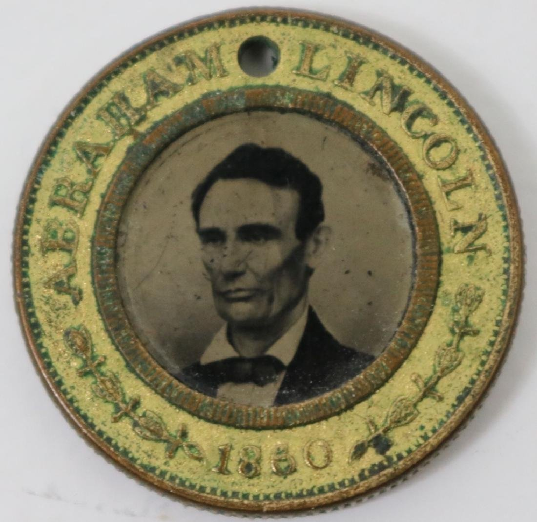 ABRAHAM LINCOLN FERROTYPE POLITICAL BUTTON