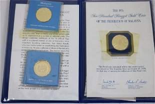 3 FRANKLIN MINT 200 RINGGIT MALAYSIAN PROOF GOLD