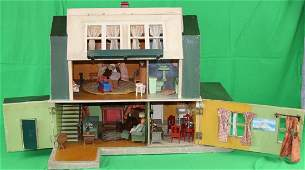 4 ROOM DUTCH COLONIAL STYLE DOLLHOUSE WITH
