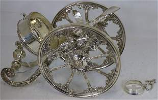 20TH C SILVER PLATED ROYAL CASTLE SHEFFIELD CANNON
