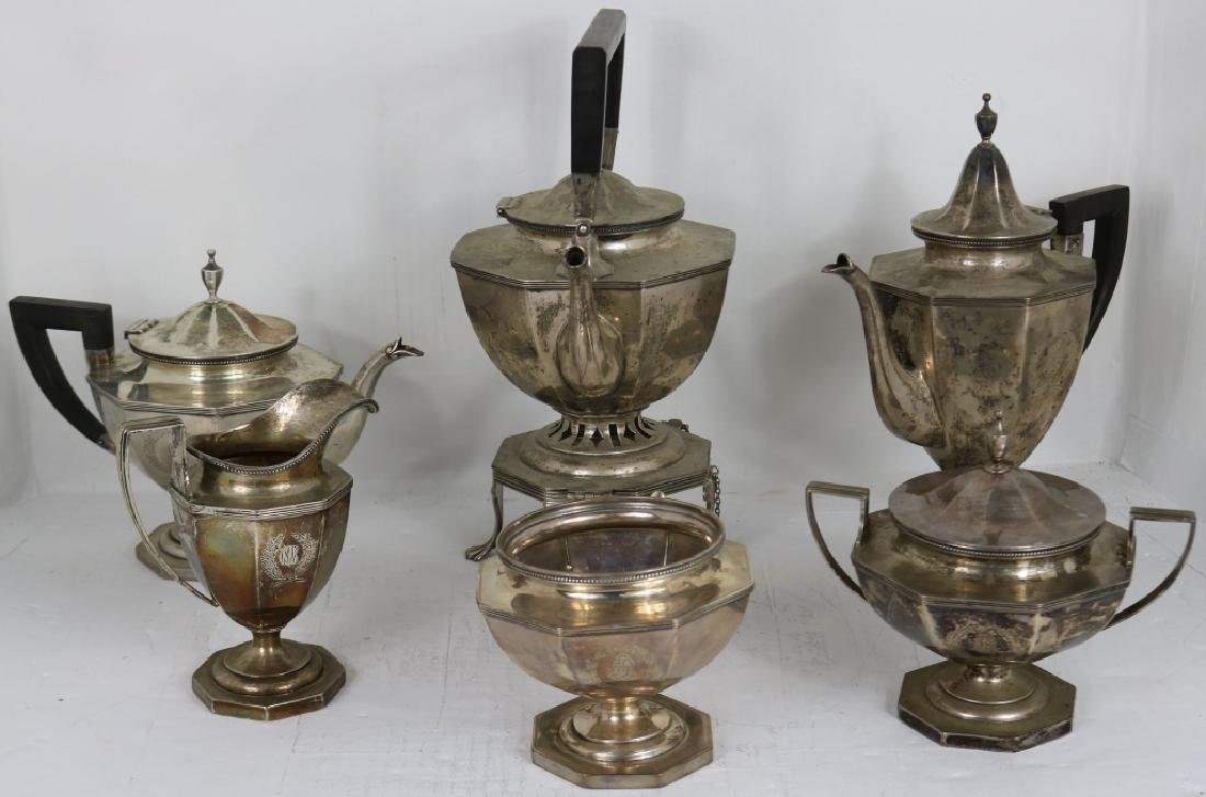 6 PIECE STERLING SILVER TEA AND COFFEE SERVICE BY