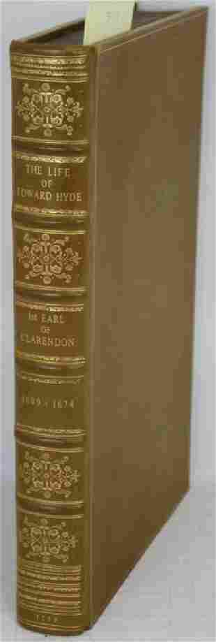 THE LIFE OF EDWARD EARL OF CLARENDON LORD HIGH