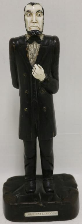 EARLY 20TH C FOLK ART CARVING OF ABRAHAM LINCOLN