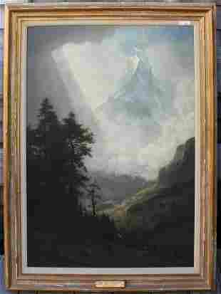 ALBERT BIERSTADT (1830-1902, NY, CA, NEW BEDFORD,