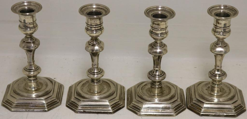 SET OF 4 EARLY 20TH C ENGLISH WEIGHTED STERLING