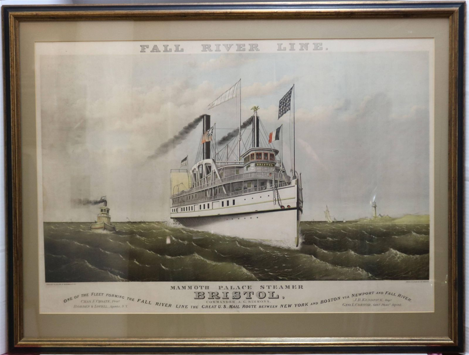 LATE 19TH CENTURY FRAMED AND GLAZED HAND COLORED