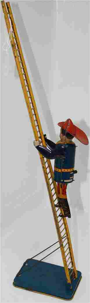 EARLY 20TH CENTURY MARX CLIMBING FIREMAN WIND-UP