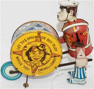 """MARX TIN LITHOGRAPH WIND-UP TOY """"DRUMMER BOY""""."""
