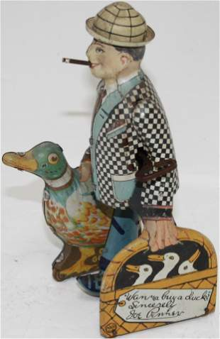 MARX TIN LITHOGRAPH WIND-UP TOY, JOE PENNER