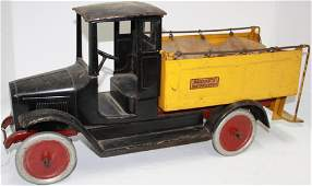 BUDDY L ICE DELIVERY TRUCK, WITH ORIGINAL CLOTH