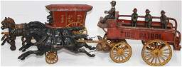 LOT OF 2 CAST IRON TOYS. TO INCLUDE: HUBLEY CAST