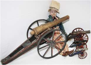 LOT OF 4 TOY CANNONS, TO INCLUDE: 19TH CENTURY