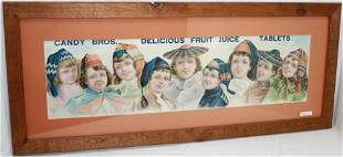 """FRAMED EARLY 20TH CENTURY CANDY BROS. """"FRUIT"""