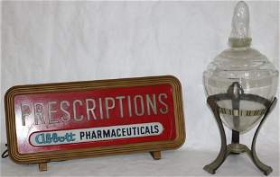 2 VINTAGE PHARMACY ITEMS TO INCLUDE ABBOTT