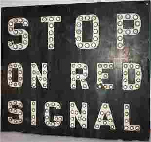 EARLY 20TH CENTURY METAL RAILROAD TRAFFIC SIGN,