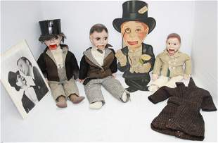 LOT OF 6 CHARLIE MCCARTHY RELATED PIECES. TO