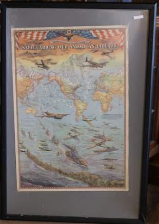 "WORLD WAR II POSTER ""SAFEGUARDING OUR AMERICAN"