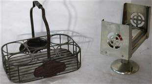 LOT OF TWO 20TH CENTURY DISPENSER AND BOTTLE
