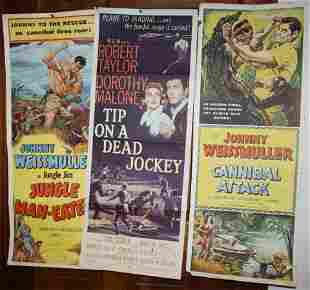 LOT OF 9 MID-CENTURY MOVIE POSTERS. TO INCLUDE: