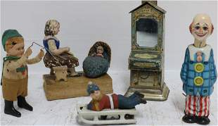 TIN LITHOGRAPH AND OTHER TOYS TO INCLUDE A GERMAN