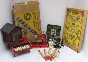 LOT OF 10 TOYS, EARLY-MID 20TH C. TO INCLUDE: A