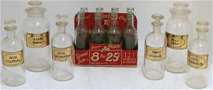 LOT OF 14 EARLY-MID 20TH CENTURY GLASS BOTTLES.