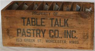TABLE TALK PASTRY CO. INC. WOODEN ADVERTISING