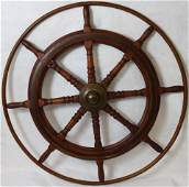 EARLY 20TH CENTURY HARDWOOD BRASS AND IRON SHIPS