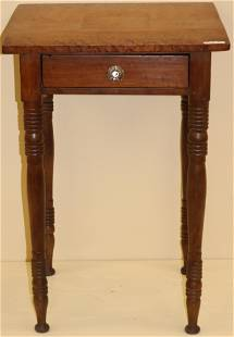EARLY AMERICAN FEDERAL ONE DRAWER STAND, BIRDS