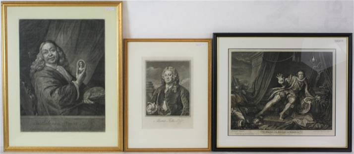 LOT OF 2 18TH CENTURY PRINTS, AND ONE POSSIBLY