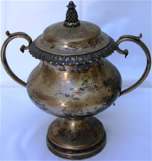 AMERICAN COIN SILVER SUGAR BOWL WITH