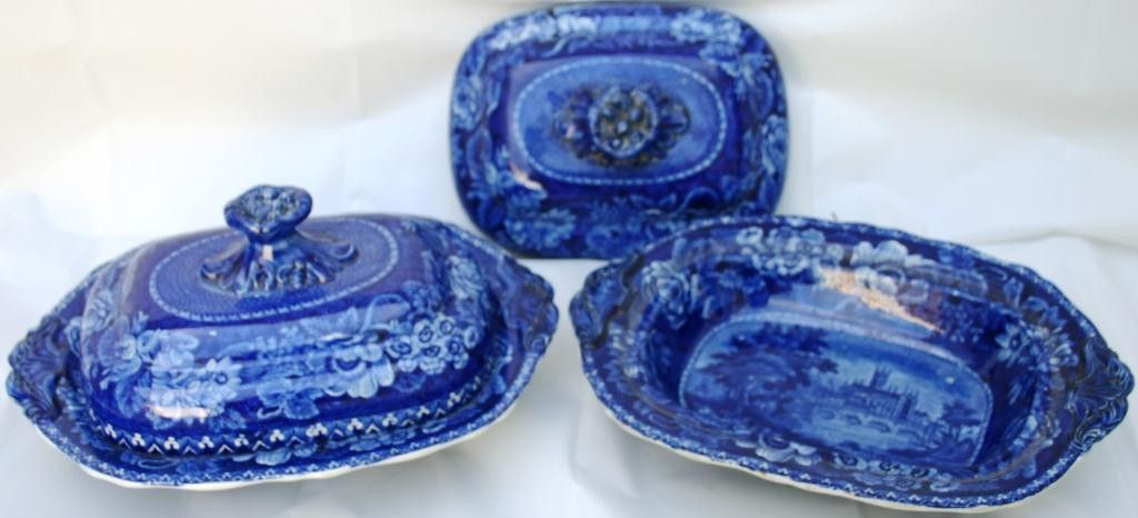 PAIR OF STAFFORDSHIRE COVERED VEGETABLE DISHES