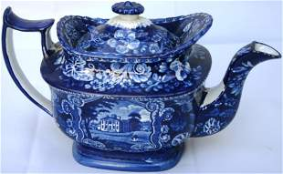 EARLY 19TH CENTURY HISTORICAL BLUE STAFFORDSHIRE