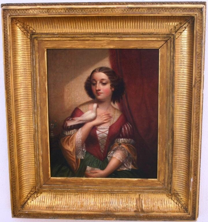 24: FRAMED OIL PAINTING ON CANVAS BY CEPHAS