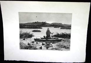 UNFRAMED ETCHING, PENCIL SIGNED LOWER RIGHT