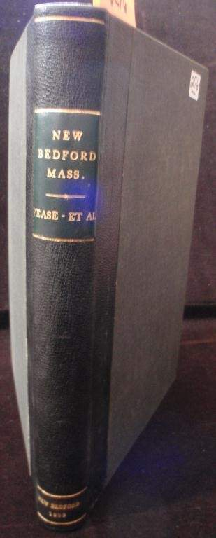 """BOUND BOOK, 1889, TITLED """"NEW BEDFORD,"""